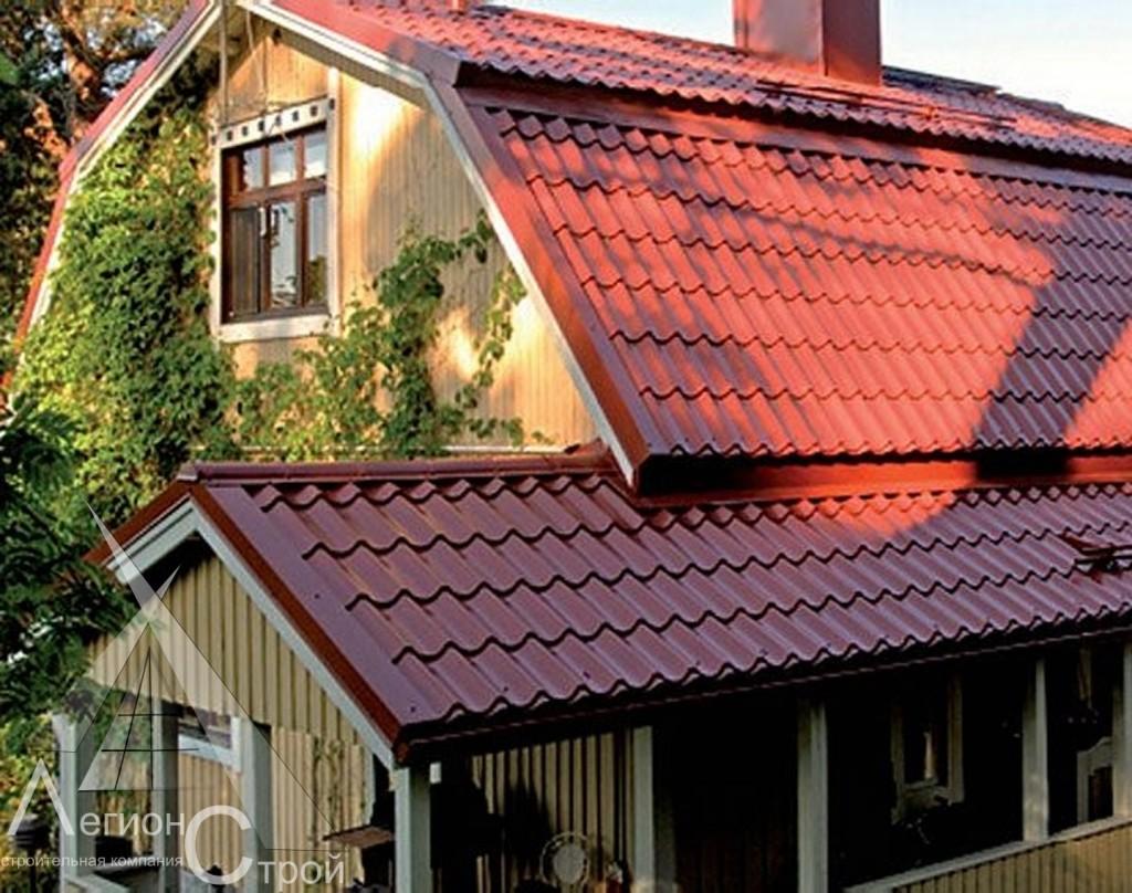 Фото дизайна крыш из металлочерепицы